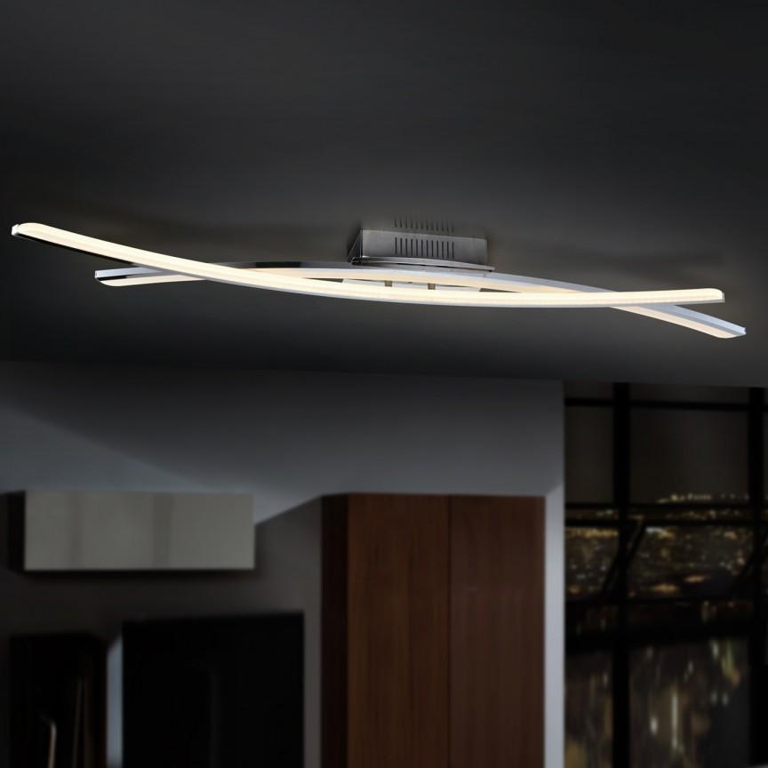 Lustra LED aplicata dimabila cu telecomanda LINUR SV-736432D, Lustre moderne aplicate, Corpuri de iluminat, lustre, aplice, veioze, lampadare, plafoniere. Mobilier si decoratiuni, oglinzi, scaune, fotolii. Oferte speciale iluminat interior si exterior. Livram in toata tara.  a