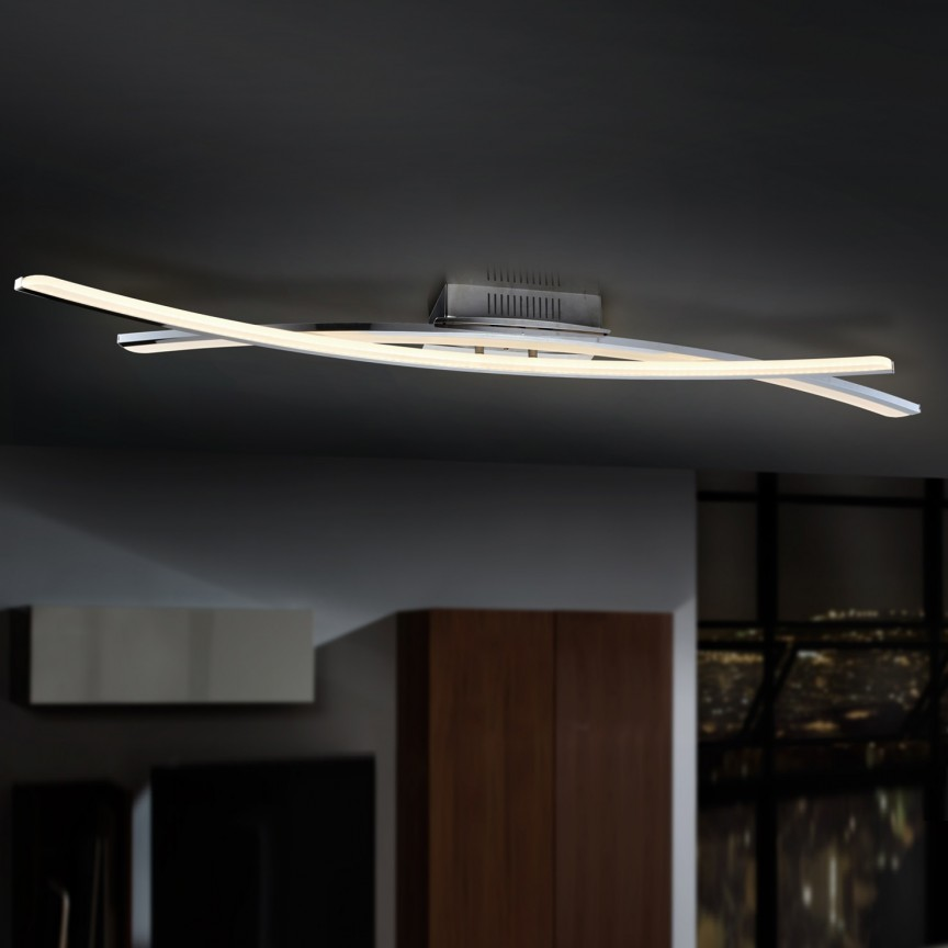 Lustra LED aplicata dimabila cu telecomanda LINUR SV-736432D, Lampi LED si Telecomanda, Corpuri de iluminat, lustre, aplice, veioze, lampadare, plafoniere. Mobilier si decoratiuni, oglinzi, scaune, fotolii. Oferte speciale iluminat interior si exterior. Livram in toata tara.  a