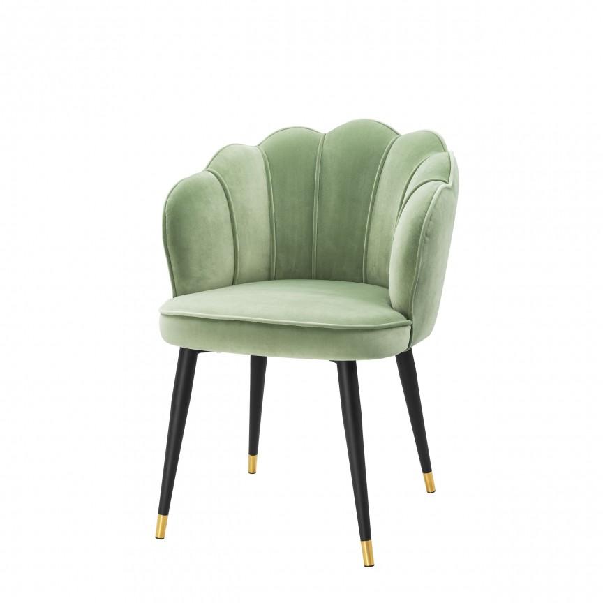 Scaun elegant design LUX Bristol catifea verde 113544 HZ, Scaune dining , Corpuri de iluminat, lustre, aplice, veioze, lampadare, plafoniere. Mobilier si decoratiuni, oglinzi, scaune, fotolii. Oferte speciale iluminat interior si exterior. Livram in toata tara.  a