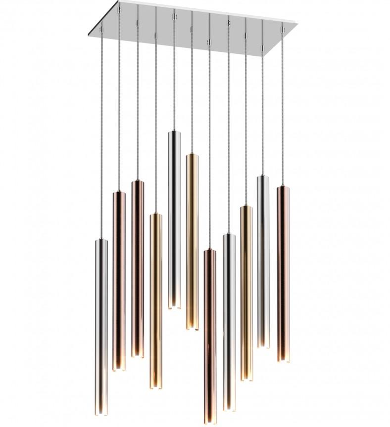 Lustra LED design minimalist cu 11 pendule LOYA P0461-11A-B5SC ZL, ILUMINAT INTERIOR LED , Corpuri de iluminat, lustre, aplice, veioze, lampadare, plafoniere. Mobilier si decoratiuni, oglinzi, scaune, fotolii. Oferte speciale iluminat interior si exterior. Livram in toata tara.  a