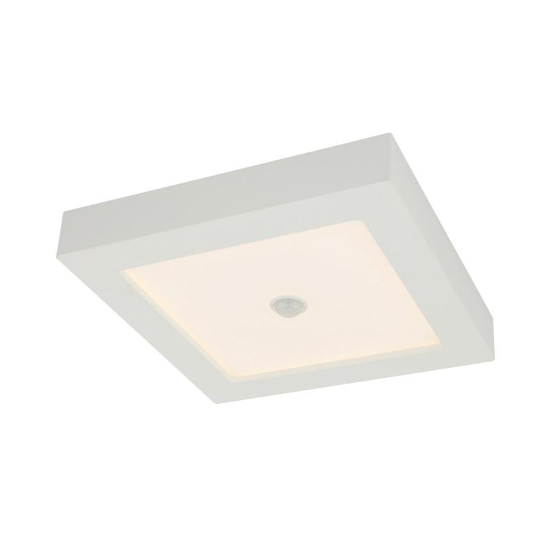 Plafoniera LED cu senzor de miscare 18W SVENJA 41606-18S GL, ILUMINAT INTERIOR LED , Corpuri de iluminat, lustre, aplice, veioze, lampadare, plafoniere. Mobilier si decoratiuni, oglinzi, scaune, fotolii. Oferte speciale iluminat interior si exterior. Livram in toata tara.  a