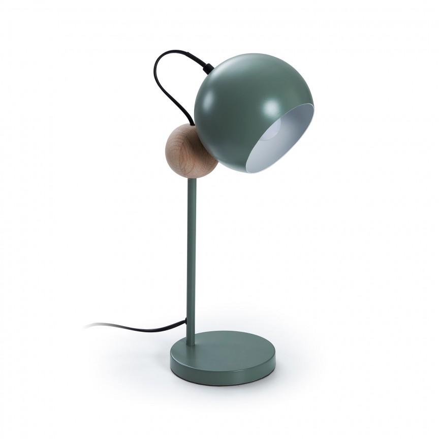 Veioza / Lampa de masa design modern Vonne verde AA4100R20 JG, Veioze, Lampi de masa, Corpuri de iluminat, lustre, aplice, veioze, lampadare, plafoniere. Mobilier si decoratiuni, oglinzi, scaune, fotolii. Oferte speciale iluminat interior si exterior. Livram in toata tara.  a