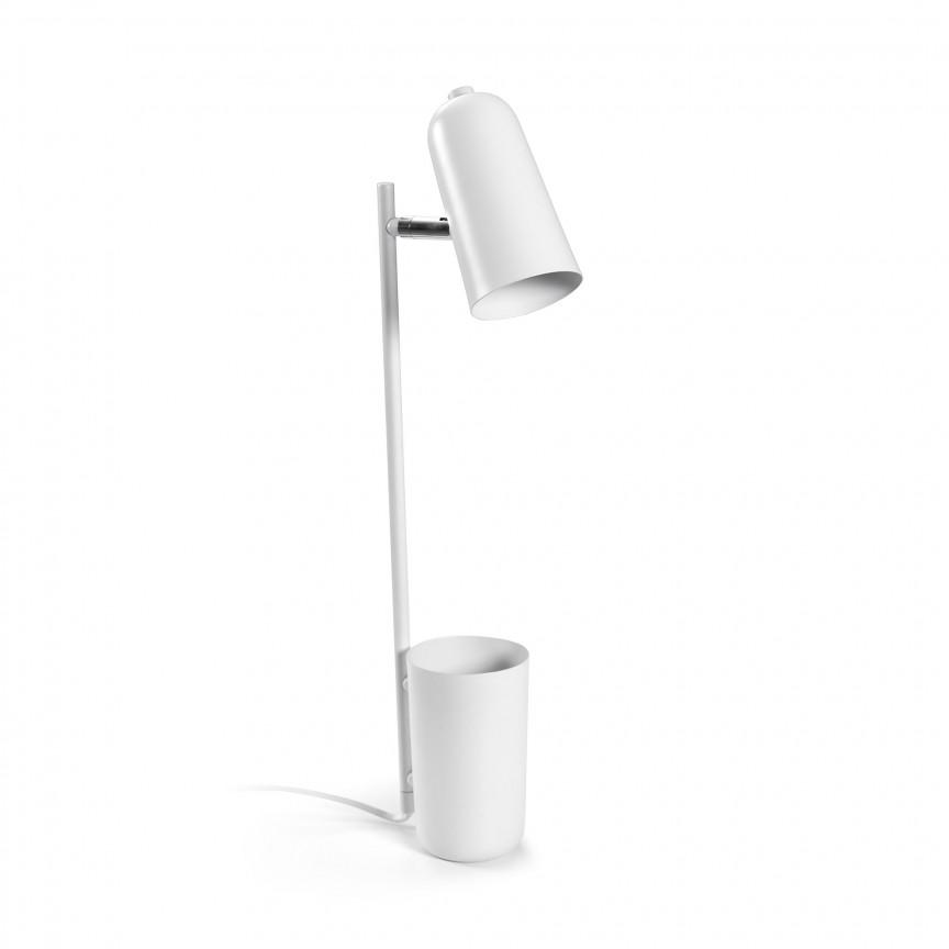 Veioza / Lampa de birou design minimalist Sausalito alba AA4095R05 JG , Veioze de Birou moderne, Corpuri de iluminat, lustre, aplice, veioze, lampadare, plafoniere. Mobilier si decoratiuni, oglinzi, scaune, fotolii. Oferte speciale iluminat interior si exterior. Livram in toata tara.  a