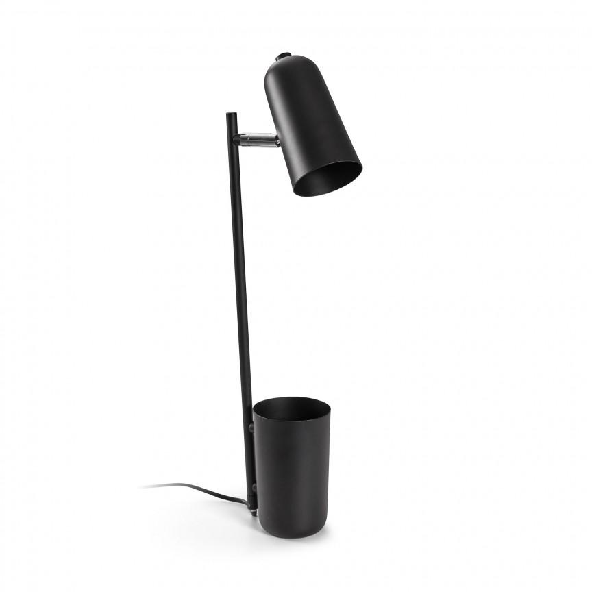 Veioza / Lampa de birou design minimalist Sausalito neagra AA4095R01 JG, Veioze de Birou moderne, Corpuri de iluminat, lustre, aplice, veioze, lampadare, plafoniere. Mobilier si decoratiuni, oglinzi, scaune, fotolii. Oferte speciale iluminat interior si exterior. Livram in toata tara.  a