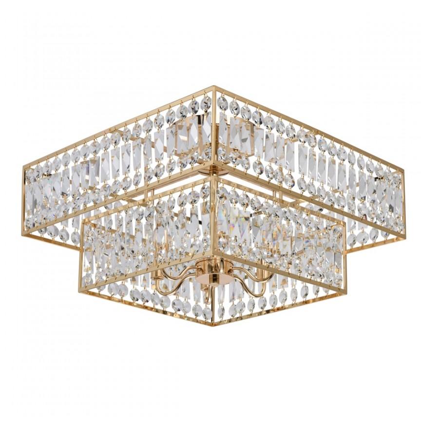 Lustra aplicata cristal design elegant Monarch 60x60cm 121012006 MW, Lustre moderne aplicate, Corpuri de iluminat, lustre, aplice, veioze, lampadare, plafoniere. Mobilier si decoratiuni, oglinzi, scaune, fotolii. Oferte speciale iluminat interior si exterior. Livram in toata tara.  a