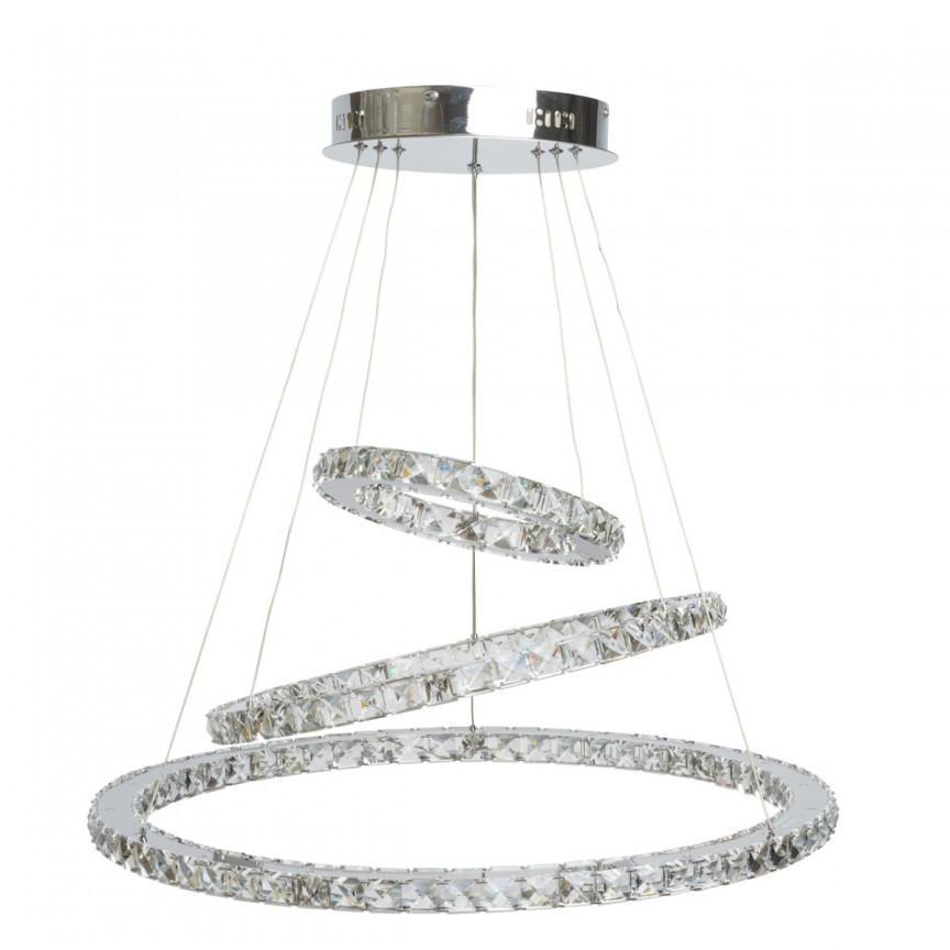Candelabru LED cristal design lux Ø70cm Goslar 498011903 MW, Candelabre, Lustre moderne, Corpuri de iluminat, lustre, aplice, veioze, lampadare, plafoniere. Mobilier si decoratiuni, oglinzi, scaune, fotolii. Oferte speciale iluminat interior si exterior. Livram in toata tara.  a