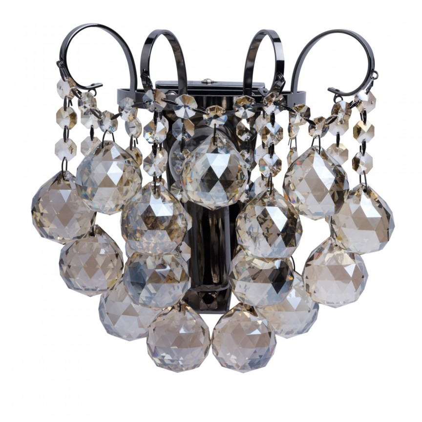 Aplica de perete cristal golden teak stil elegant PEARLS 232028001 MW, Aplice de perete moderne, Corpuri de iluminat, lustre, aplice, veioze, lampadare, plafoniere. Mobilier si decoratiuni, oglinzi, scaune, fotolii. Oferte speciale iluminat interior si exterior. Livram in toata tara.  a