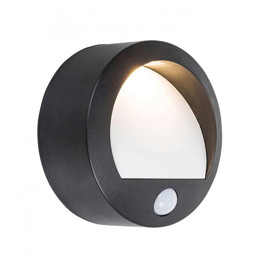 Aplica LED de exterior pentru scari cu senzor de miscare Amarillo neagra 7969 RX, Iluminat cu senzor de miscare,  a