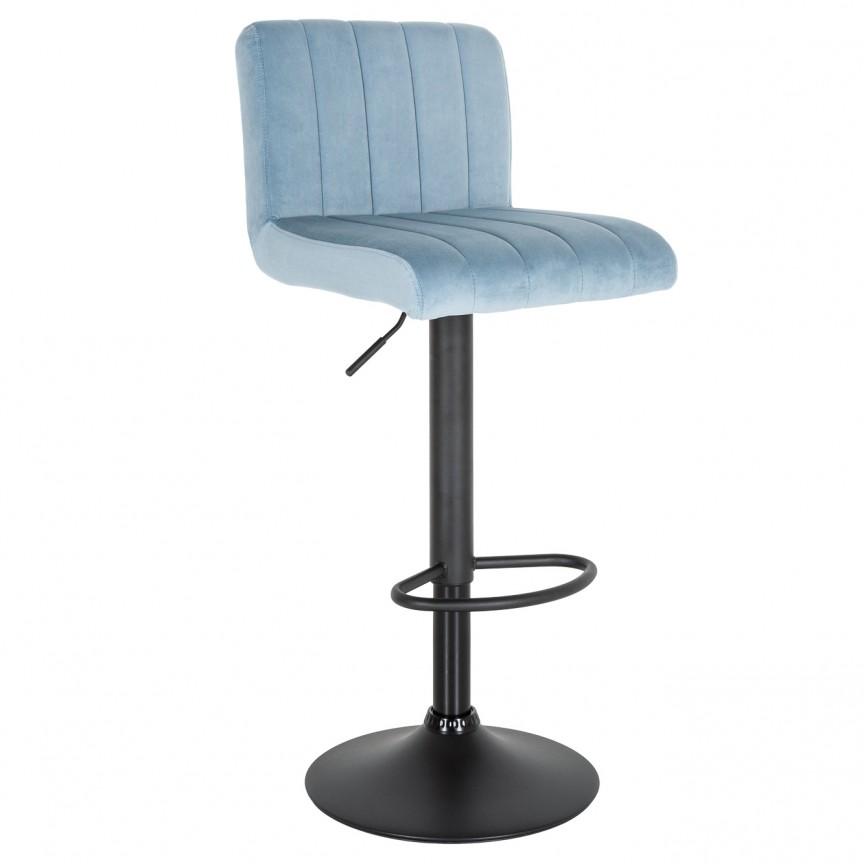 Set de 2 scaune de bar Portland, catifea albastru deschis A-39478 VC, Scaune de bar, Corpuri de iluminat, lustre, aplice, veioze, lampadare, plafoniere. Mobilier si decoratiuni, oglinzi, scaune, fotolii. Oferte speciale iluminat interior si exterior. Livram in toata tara.  a