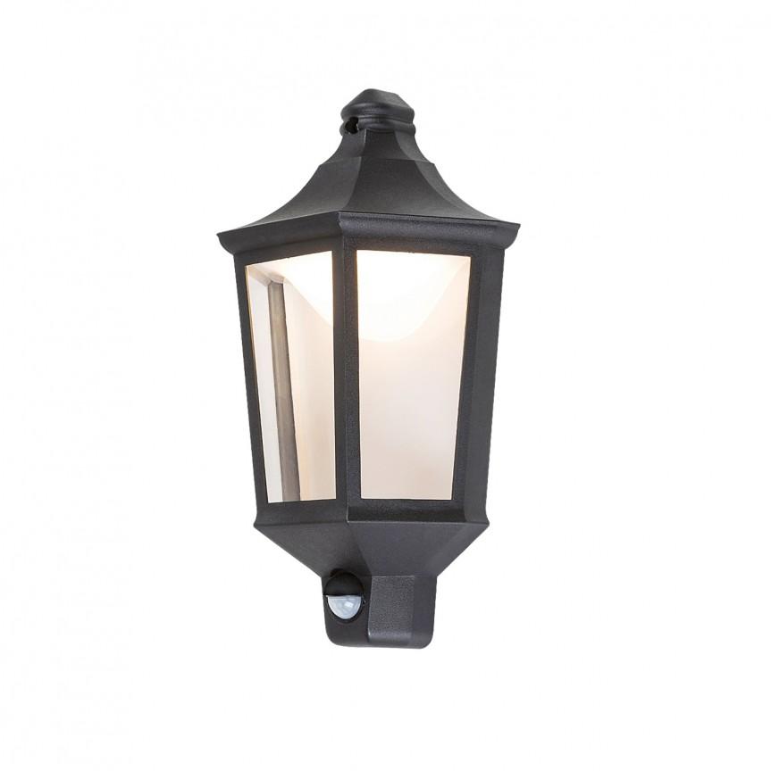 Aplica LED exterior cu senzor de miscare IP44 Rosewell 8980 RX, Iluminat cu senzor de miscare,  a