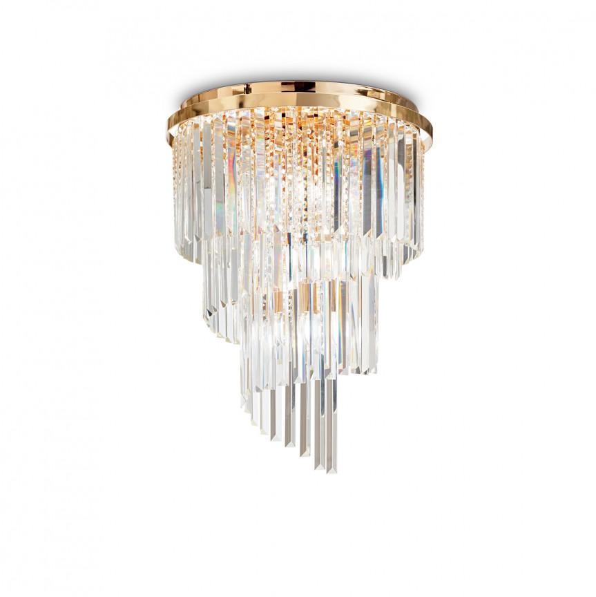 Lustra / Plafoniera moderna design elegant CARLTON oro PL12 213507, Lustre moderne aplicate, Corpuri de iluminat, lustre, aplice, veioze, lampadare, plafoniere. Mobilier si decoratiuni, oglinzi, scaune, fotolii. Oferte speciale iluminat interior si exterior. Livram in toata tara.  a