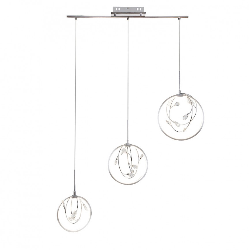 Lustra cu 3 pendule LED design modern Chrissy 1494 RX, Lustre LED, Pendule LED, Corpuri de iluminat, lustre, aplice, veioze, lampadare, plafoniere. Mobilier si decoratiuni, oglinzi, scaune, fotolii. Oferte speciale iluminat interior si exterior. Livram in toata tara.  a