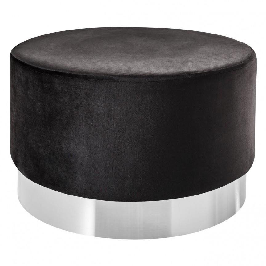 Taburete Modern Barock 55cm, negru/ argintiu A-39606 VC, Tabureti - Banci, Corpuri de iluminat, lustre, aplice, veioze, lampadare, plafoniere. Mobilier si decoratiuni, oglinzi, scaune, fotolii. Oferte speciale iluminat interior si exterior. Livram in toata tara.  a