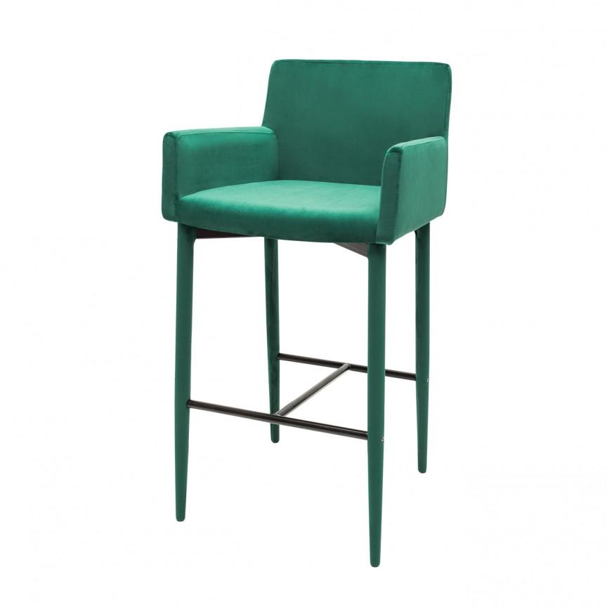 Set 2 scaune de bar, design modern Milano, catifea verde smarald A-39418 VC, Scaune de bar, Corpuri de iluminat, lustre, aplice, veioze, lampadare, plafoniere. Mobilier si decoratiuni, oglinzi, scaune, fotolii. Oferte speciale iluminat interior si exterior. Livram in toata tara.  a