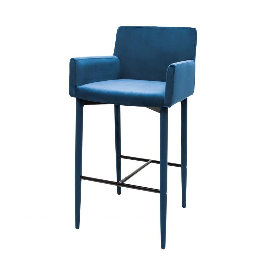 Set 2 scaune de bar, design modern Milano, catifea albastru regal A-39419 VC, Scaune de bar, Corpuri de iluminat, lustre, aplice, veioze, lampadare, plafoniere. Mobilier si decoratiuni, oglinzi, scaune, fotolii. Oferte speciale iluminat interior si exterior. Livram in toata tara.  a
