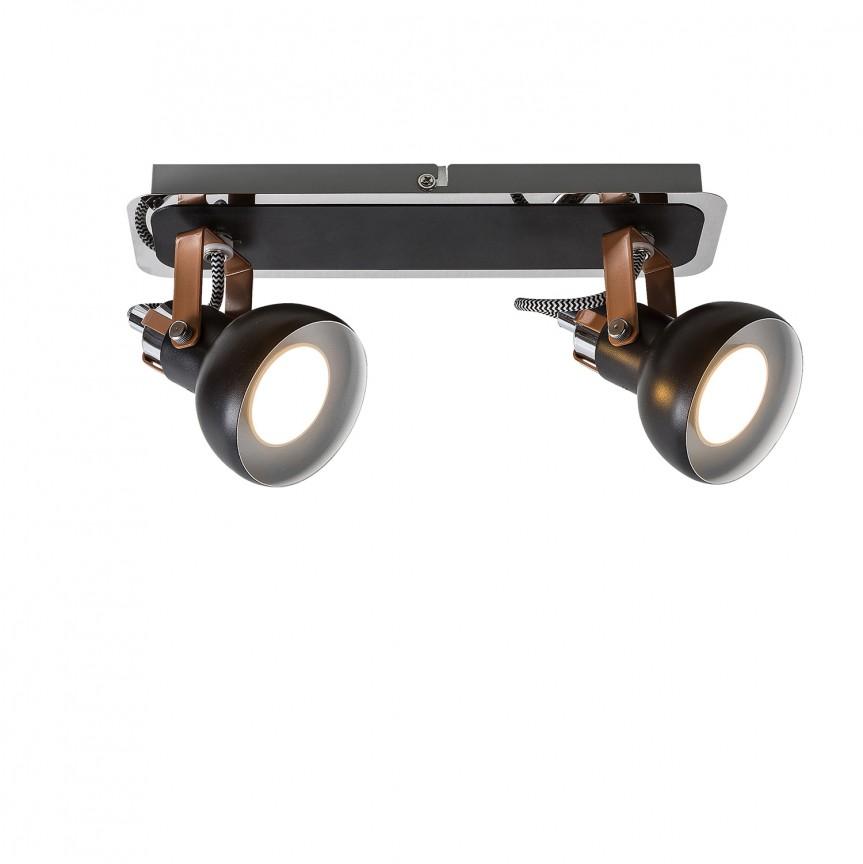 Plafoniera cu 2 spoturi directionabile Balzac 5610 RX, Spoturi - iluminat - cu 2 spoturi, Corpuri de iluminat, lustre, aplice, veioze, lampadare, plafoniere. Mobilier si decoratiuni, oglinzi, scaune, fotolii. Oferte speciale iluminat interior si exterior. Livram in toata tara.  a