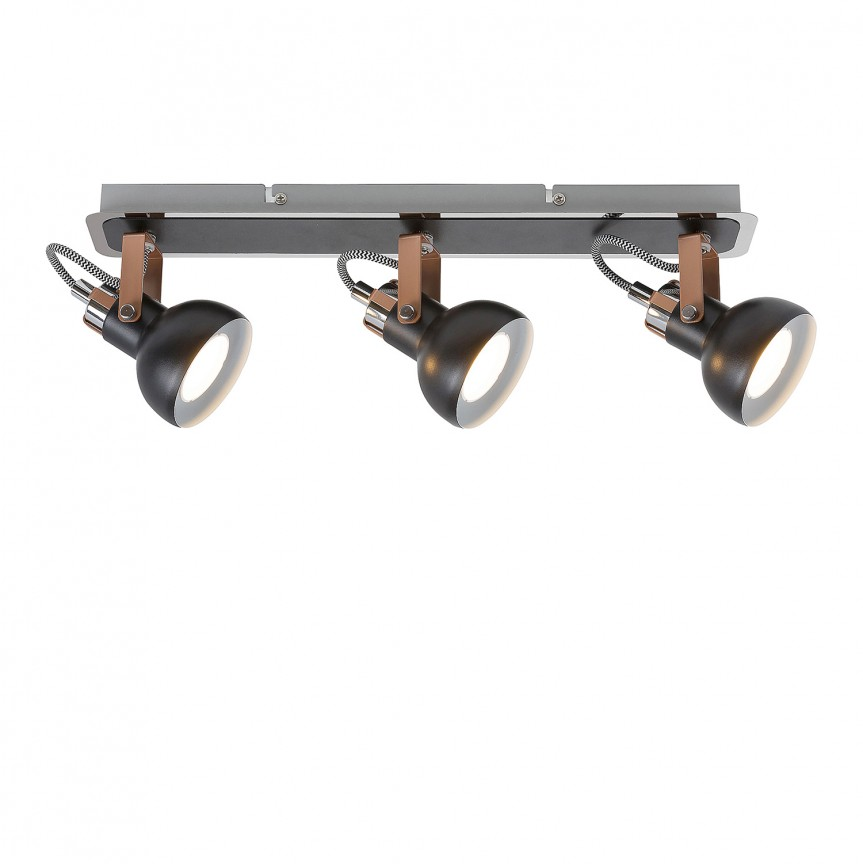 Plafoniera cu 3 spoturi directionabile Balzac 5611 RX, Spoturi - iluminat - cu 3 spoturi, Corpuri de iluminat, lustre, aplice, veioze, lampadare, plafoniere. Mobilier si decoratiuni, oglinzi, scaune, fotolii. Oferte speciale iluminat interior si exterior. Livram in toata tara.  a