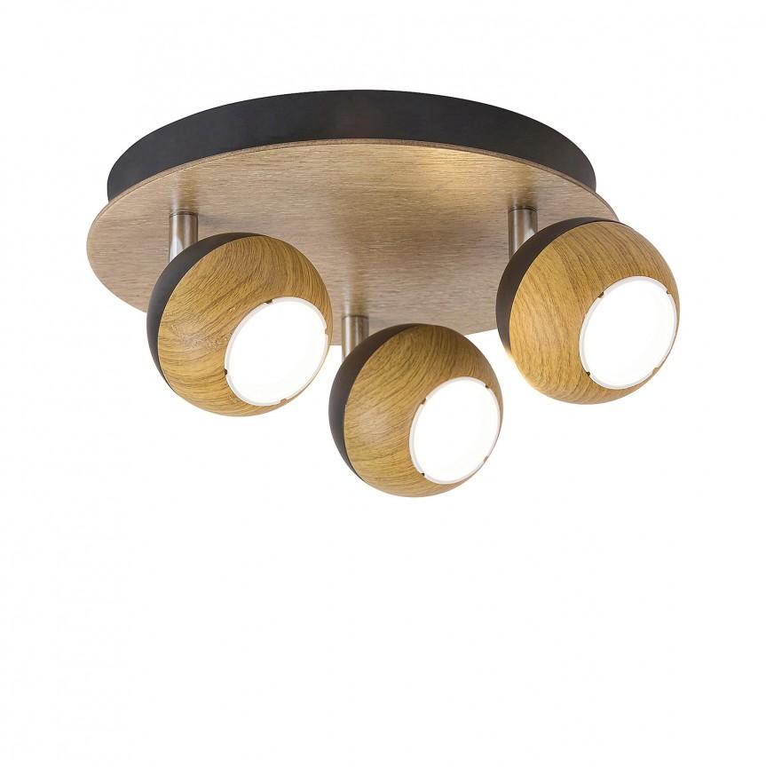 Plafoniera cu 3 spoturi directionabile Arthur 5615 RX, Spoturi - iluminat - cu 3 spoturi, Corpuri de iluminat, lustre, aplice, veioze, lampadare, plafoniere. Mobilier si decoratiuni, oglinzi, scaune, fotolii. Oferte speciale iluminat interior si exterior. Livram in toata tara.  a
