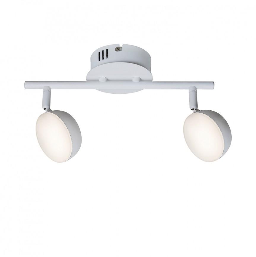 Plafoniera LED dimabila cu telecomanda design minimalist Hedwig 2 5623 RX, Spoturi - iluminat - cu 2 spoturi, Corpuri de iluminat, lustre, aplice, veioze, lampadare, plafoniere. Mobilier si decoratiuni, oglinzi, scaune, fotolii. Oferte speciale iluminat interior si exterior. Livram in toata tara.  a