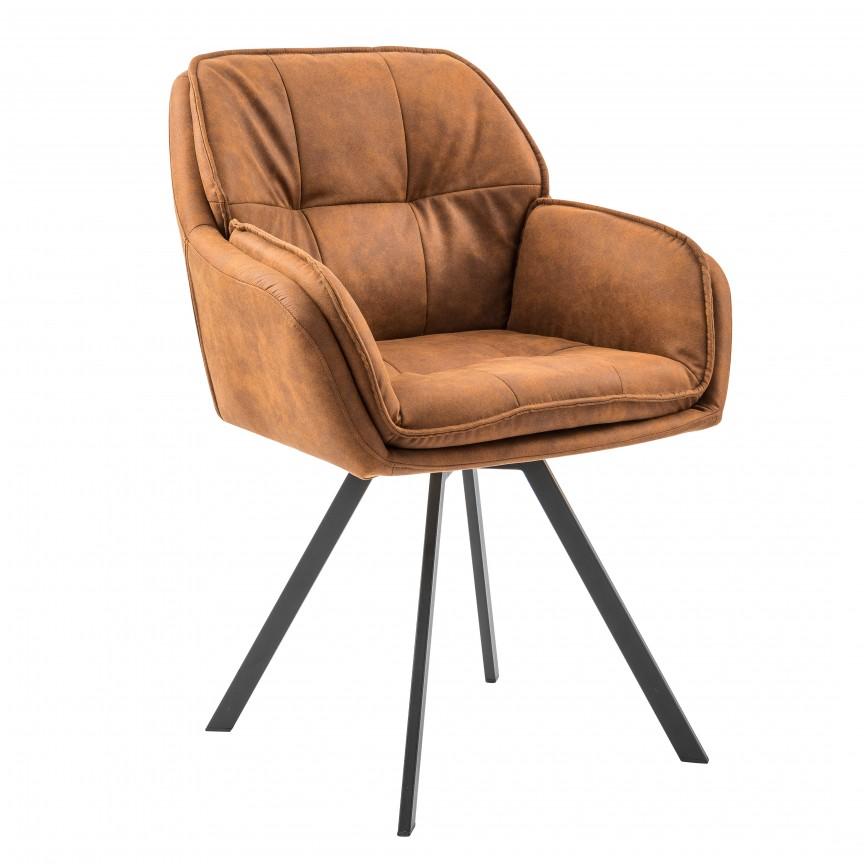 Set de 2 scaune pivotante, design retro Lounger, microfibra maro deschis A-39838 VC, Scaune de birou, Corpuri de iluminat, lustre, aplice, veioze, lampadare, plafoniere. Mobilier si decoratiuni, oglinzi, scaune, fotolii. Oferte speciale iluminat interior si exterior. Livram in toata tara.  a