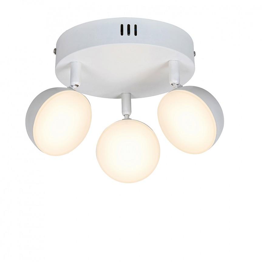 Plafoniera LED dimabila cu telecomanda design minimalist Hedwig 3 5624 RX, Spoturi - iluminat - cu 3 spoturi, Corpuri de iluminat, lustre, aplice, veioze, lampadare, plafoniere. Mobilier si decoratiuni, oglinzi, scaune, fotolii. Oferte speciale iluminat interior si exterior. Livram in toata tara.  a