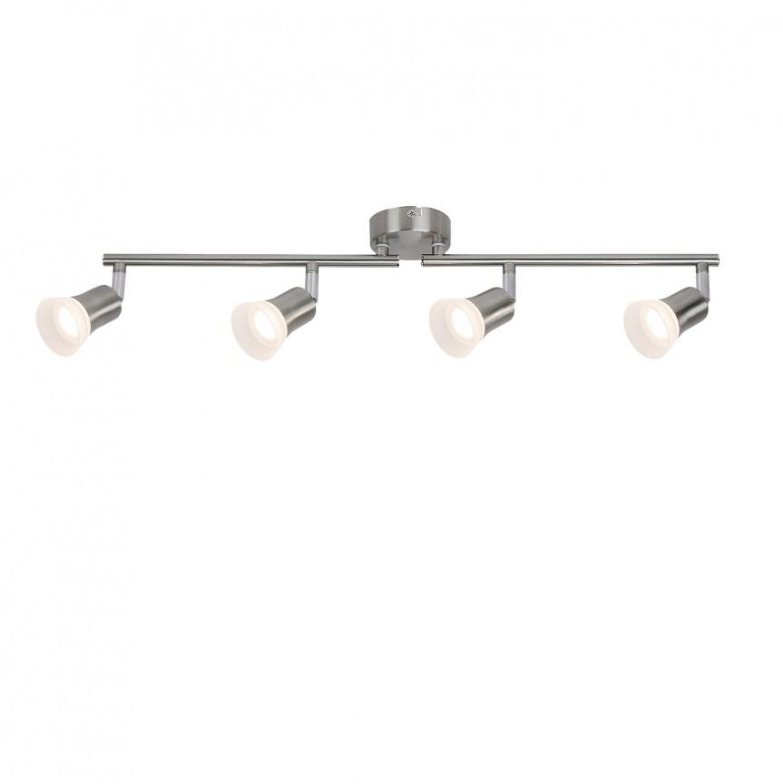 Plafoniera LED cu 4 spoturi directionabile Riley 5630 RX, Spoturi - iluminat - cu 4 spoturi, Corpuri de iluminat, lustre, aplice, veioze, lampadare, plafoniere. Mobilier si decoratiuni, oglinzi, scaune, fotolii. Oferte speciale iluminat interior si exterior. Livram in toata tara.  a