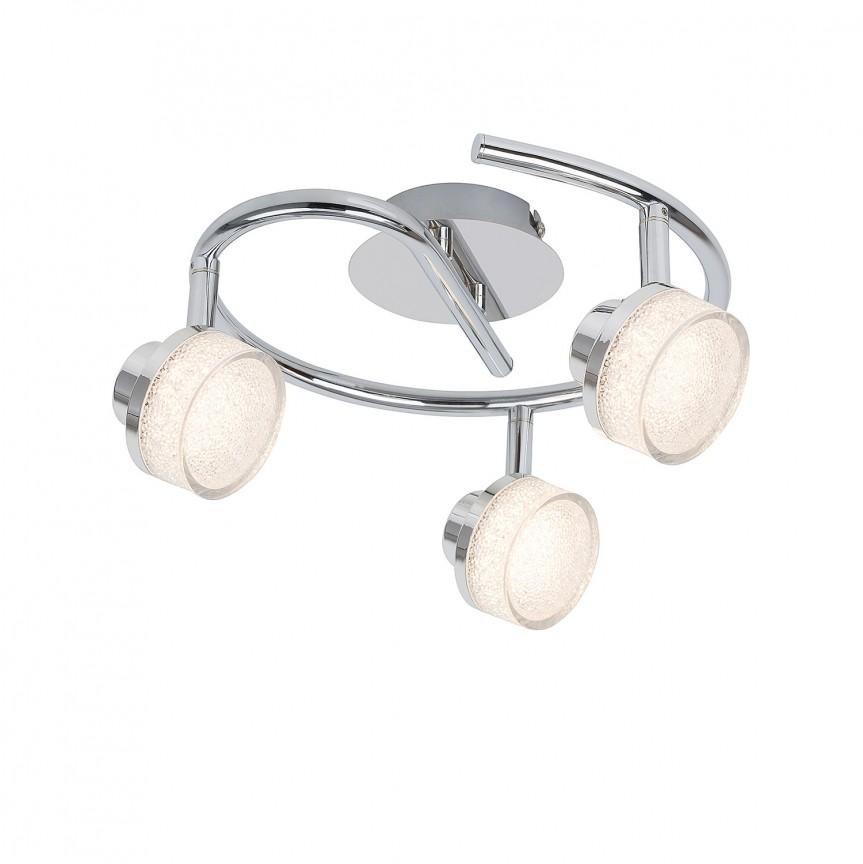 Plafoniera LED cu 3 spoturi directionabile Padma 5637 RX, Spoturi - iluminat - cu 3 spoturi, Corpuri de iluminat, lustre, aplice, veioze, lampadare, plafoniere. Mobilier si decoratiuni, oglinzi, scaune, fotolii. Oferte speciale iluminat interior si exterior. Livram in toata tara.  a