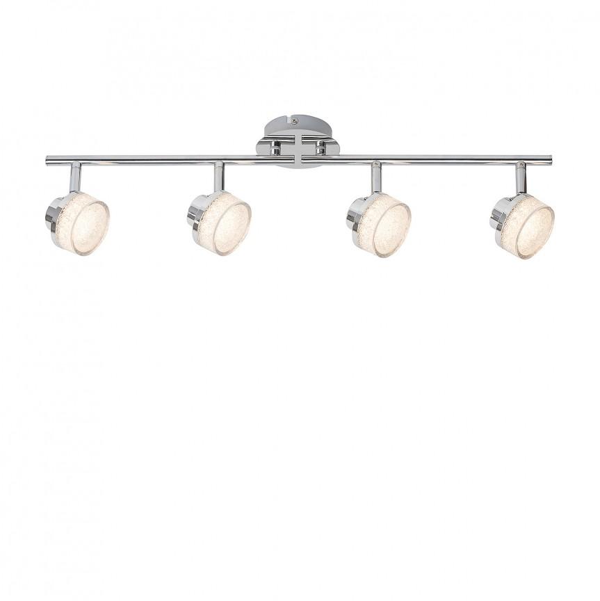 Plafoniera LED cu 4 spoturi directionabile Padma 5639 RX, Plafoniere LED, Spoturi LED, Corpuri de iluminat, lustre, aplice, veioze, lampadare, plafoniere. Mobilier si decoratiuni, oglinzi, scaune, fotolii. Oferte speciale iluminat interior si exterior. Livram in toata tara.  a