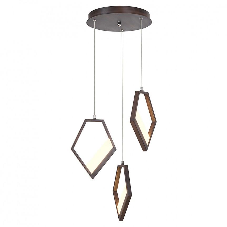 Lustra cu 3 pendule LED cu design modern Silvana 5643 RX, Lustre LED, Pendule LED, Corpuri de iluminat, lustre, aplice, veioze, lampadare, plafoniere. Mobilier si decoratiuni, oglinzi, scaune, fotolii. Oferte speciale iluminat interior si exterior. Livram in toata tara.  a