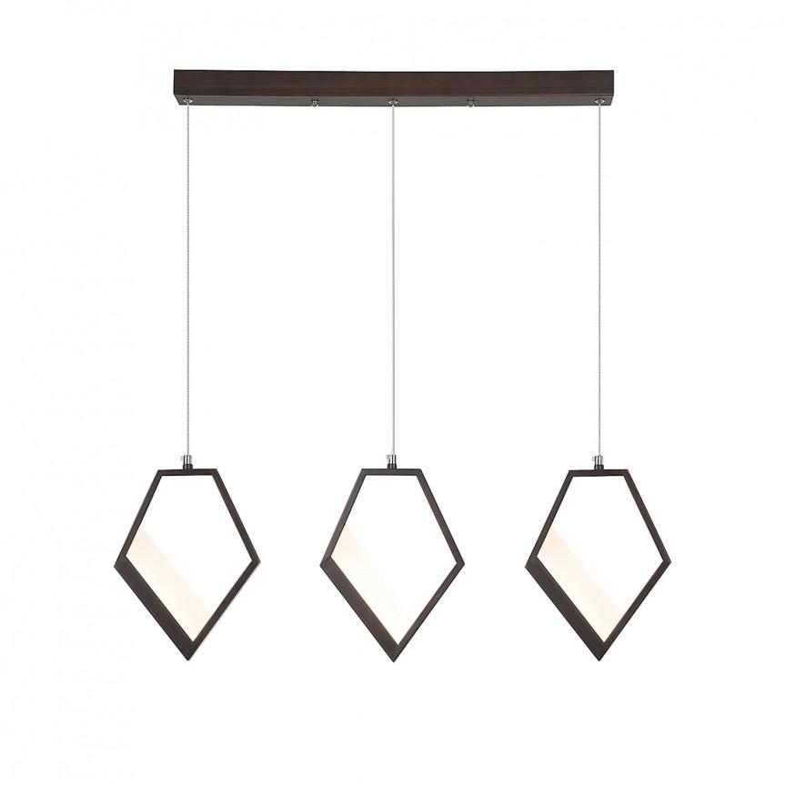 Lustra cu 3 pendule LED cu design modern Silvana 5644 RX, Lustre LED, Pendule LED, Corpuri de iluminat, lustre, aplice, veioze, lampadare, plafoniere. Mobilier si decoratiuni, oglinzi, scaune, fotolii. Oferte speciale iluminat interior si exterior. Livram in toata tara.  a