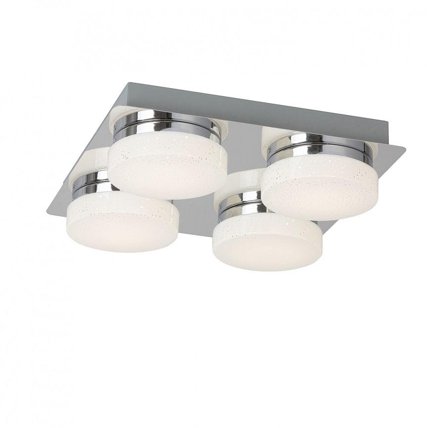 Plafoniera LED design minimalist Hilary 4 5664 RX, Plafoniere LED, Spoturi LED, Corpuri de iluminat, lustre, aplice, veioze, lampadare, plafoniere. Mobilier si decoratiuni, oglinzi, scaune, fotolii. Oferte speciale iluminat interior si exterior. Livram in toata tara.  a