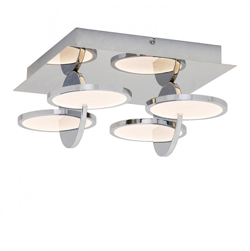 Plafoniera LED design modern Assana 5671 RX, Plafoniere LED, Spoturi LED, Corpuri de iluminat, lustre, aplice, veioze, lampadare, plafoniere. Mobilier si decoratiuni, oglinzi, scaune, fotolii. Oferte speciale iluminat interior si exterior. Livram in toata tara.  a