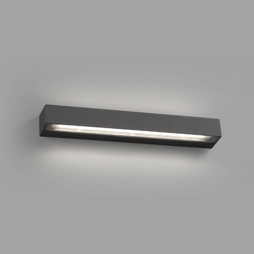 Aplica de exterior cu protectie IP65, TACOS LED gri inchis 71062, ILUMINAT EXTERIOR, Corpuri de iluminat, lustre, aplice, veioze, lampadare, plafoniere. Mobilier si decoratiuni, oglinzi, scaune, fotolii. Oferte speciale iluminat interior si exterior. Livram in toata tara.  a