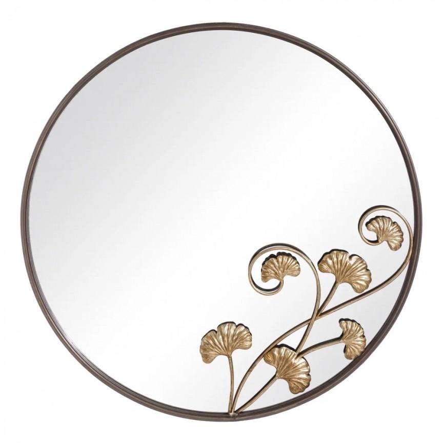 Oglinda decorativa HOJAS NEGRO-ORO, 80cm SX-151385, Oglinzi decorative,  a