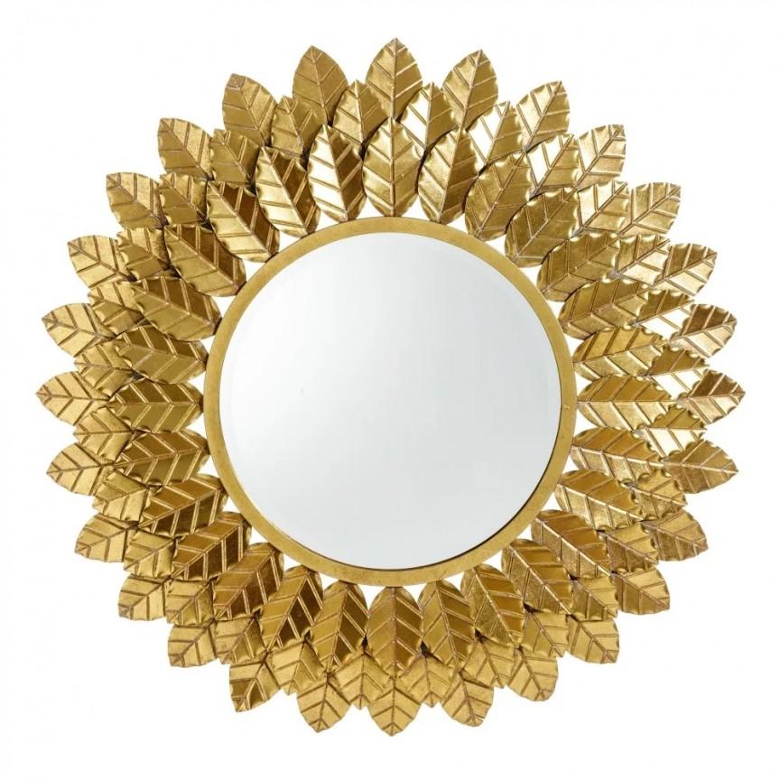 Oglinda decorativa Frunze aurii, 88cm SX-151398, Oglinzi decorative,  a
