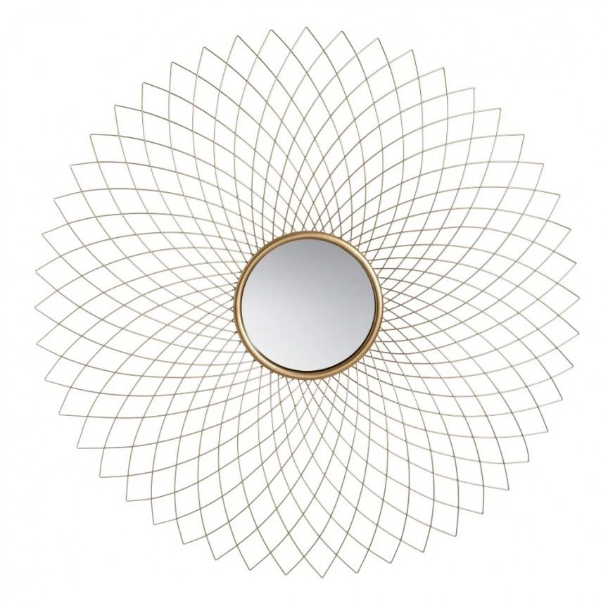 Oglinda decorativa Oro, 99,5cm SX-151464, Oglinzi decorative , moderne✅ decoratiuni de perete cu oglinda⭐ modele mari si rotunde pentru Hol, Living, Dormitor si Baie.❤️Promotii la oglinzi cu design decorativ❗ Intra si vezi poze ✚ pret ➽ www.evalight.ro. ➽ sursa ta de inspiratie online❗ Alege oglinzi deosebite Art Deco de lux pentru decorare casa, fabricate de branduri renumite. Aici gasesti cele mai frumoase si rafinate obiecte de decor cu stil contemporan unicat, oglinzi elegante cu suport de prindere pe perete, de masa sau de podea potrivite pt dresing, cu rama din metal cu aspect antichizat sau lemn de culoare aurie, sticla argintie in diferite forme: oglinzi in forma de soare, hexagonale tip fagure hexagon, ovale, patrate mici, rectangulara sau dreptunghiulara, design original exclusivist: industrial style, retro, vintage (produse manual handmade), scandinav nordic, clasic, baroc, glamour, romantic, rustic, minimalist. Tendinte si idei actuale de designer pentru amenajari interioare premium Top 2020❗ Oferte si reduceri speciale cu vanzare rapida din stoc, oglinzi de calitate la cel mai bun pret. a