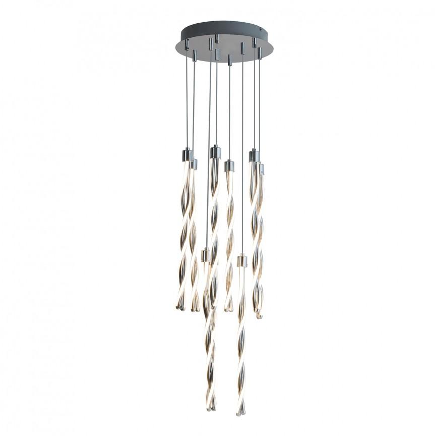 Lustra LED suspendata design modern Raina 5766 RX, Pendule, Lustre suspendate, Corpuri de iluminat, lustre, aplice, veioze, lampadare, plafoniere. Mobilier si decoratiuni, oglinzi, scaune, fotolii. Oferte speciale iluminat interior si exterior. Livram in toata tara.  a