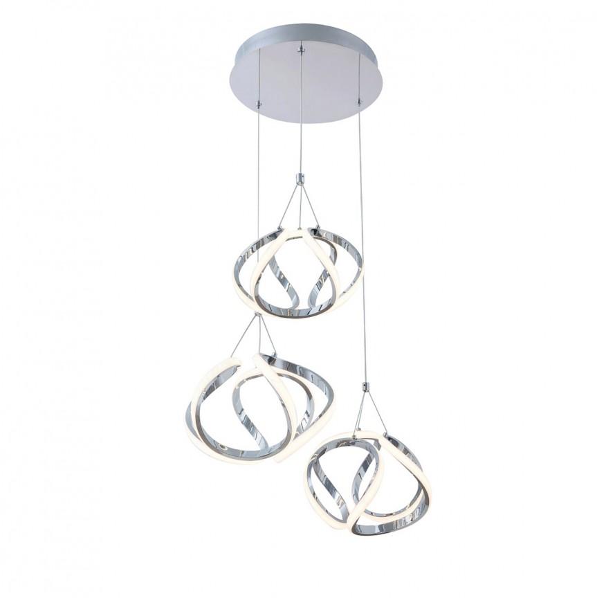 Lustra LED suspendata design modern Palmira 5771 RX, Pendule, Lustre suspendate, Corpuri de iluminat, lustre, aplice, veioze, lampadare, plafoniere. Mobilier si decoratiuni, oglinzi, scaune, fotolii. Oferte speciale iluminat interior si exterior. Livram in toata tara.  a
