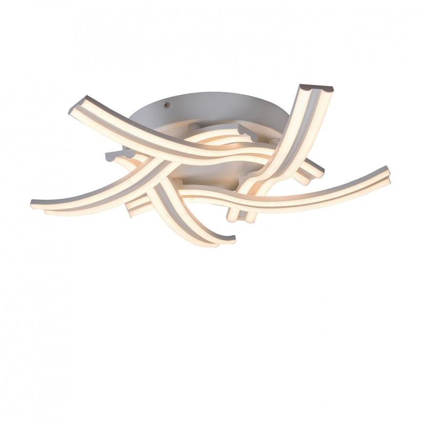 Lustra LED aplicata design modern Tulio 5890 RX, Plafoniere LED, Spoturi LED, Corpuri de iluminat, lustre, aplice, veioze, lampadare, plafoniere. Mobilier si decoratiuni, oglinzi, scaune, fotolii. Oferte speciale iluminat interior si exterior. Livram in toata tara.  a