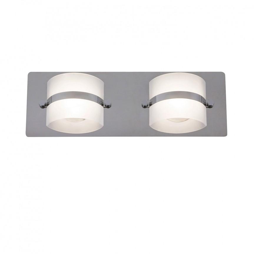 Aplica de perete LED moderna pentru baie IP44 Tony 5490 RX , Spoturi - iluminat - cu 2 spoturi, Corpuri de iluminat, lustre, aplice, veioze, lampadare, plafoniere. Mobilier si decoratiuni, oglinzi, scaune, fotolii. Oferte speciale iluminat interior si exterior. Livram in toata tara.  a