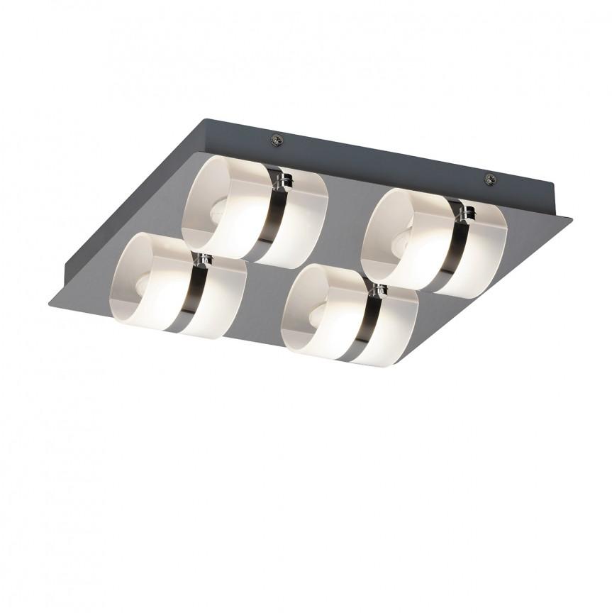 Plafoniera LED moderna pentru baie IP44 Tony 5492 RX , Plafoniere cu protectie pentru baie, Corpuri de iluminat, lustre, aplice, veioze, lampadare, plafoniere. Mobilier si decoratiuni, oglinzi, scaune, fotolii. Oferte speciale iluminat interior si exterior. Livram in toata tara.  a