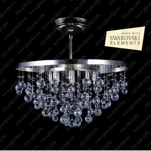 Lustra LUX cristal Swarovski L17 236/08/4, Plafoniere Cristal Bohemia, Corpuri de iluminat, lustre, aplice, veioze, lampadare, plafoniere. Mobilier si decoratiuni, oglinzi, scaune, fotolii. Oferte speciale iluminat interior si exterior. Livram in toata tara.  a
