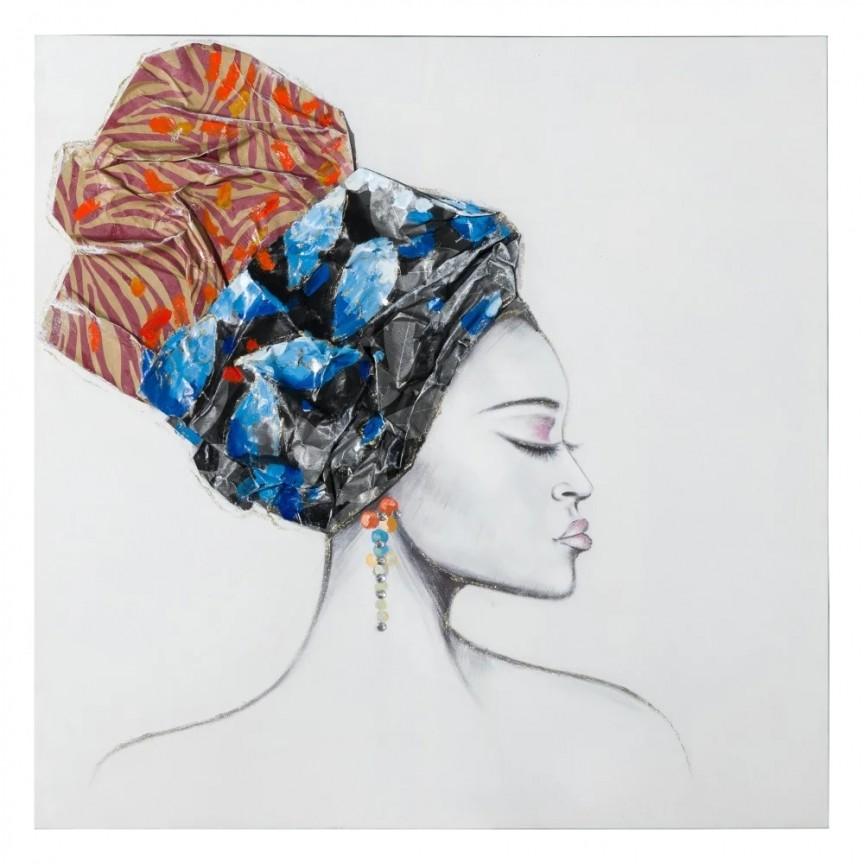 Tablou decorativ Africana, 100x100cm SX-151608, Tablouri decorative, Corpuri de iluminat, lustre, aplice, veioze, lampadare, plafoniere. Mobilier si decoratiuni, oglinzi, scaune, fotolii. Oferte speciale iluminat interior si exterior. Livram in toata tara.  a