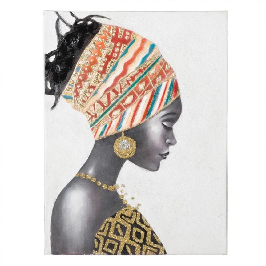 Tablou decorativ Africana, 90x120cm SX-151611, Tablouri decorative, Corpuri de iluminat, lustre, aplice, veioze, lampadare, plafoniere. Mobilier si decoratiuni, oglinzi, scaune, fotolii. Oferte speciale iluminat interior si exterior. Livram in toata tara.  a