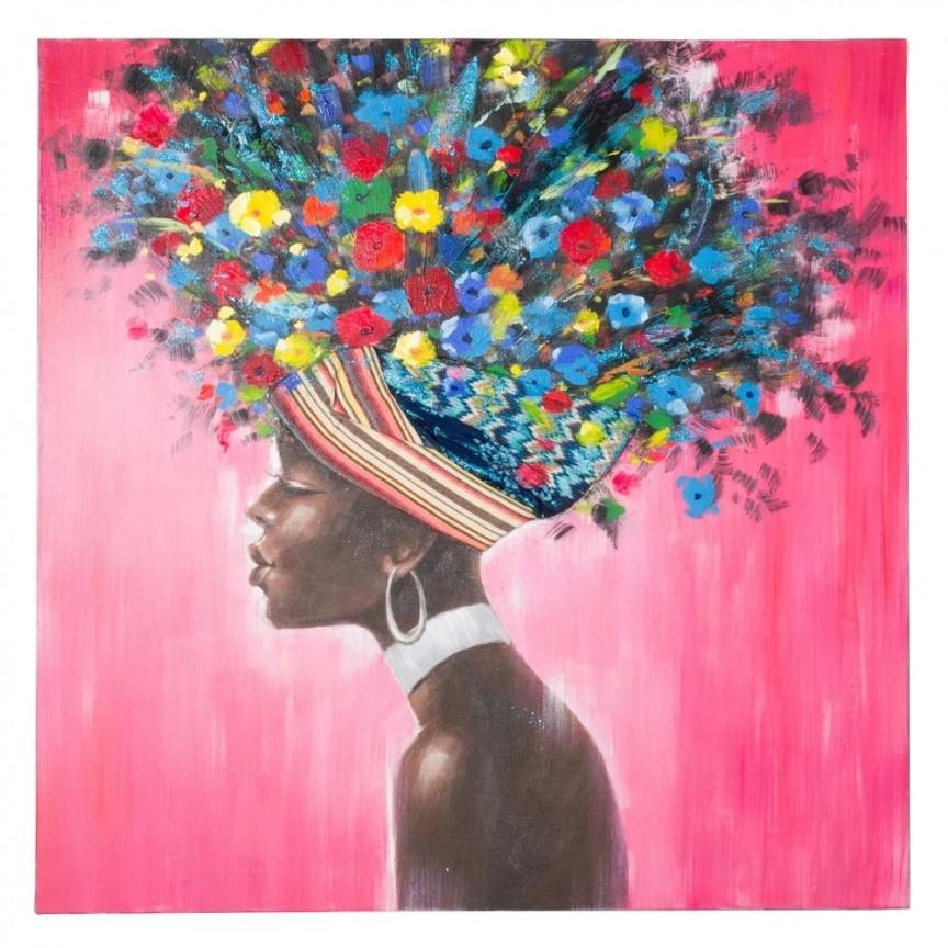 Tablou decorativ Africana, 120x120cm SX-151612, Tablouri decorative, Corpuri de iluminat, lustre, aplice, veioze, lampadare, plafoniere. Mobilier si decoratiuni, oglinzi, scaune, fotolii. Oferte speciale iluminat interior si exterior. Livram in toata tara.  a