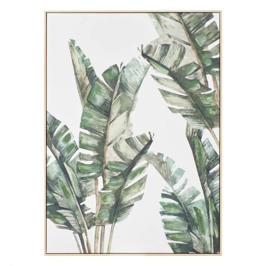 Tablou decorativ Frunze verzi, 100x140cm SX-151559, Tablouri decorative, Corpuri de iluminat, lustre, aplice, veioze, lampadare, plafoniere. Mobilier si decoratiuni, oglinzi, scaune, fotolii. Oferte speciale iluminat interior si exterior. Livram in toata tara.  a