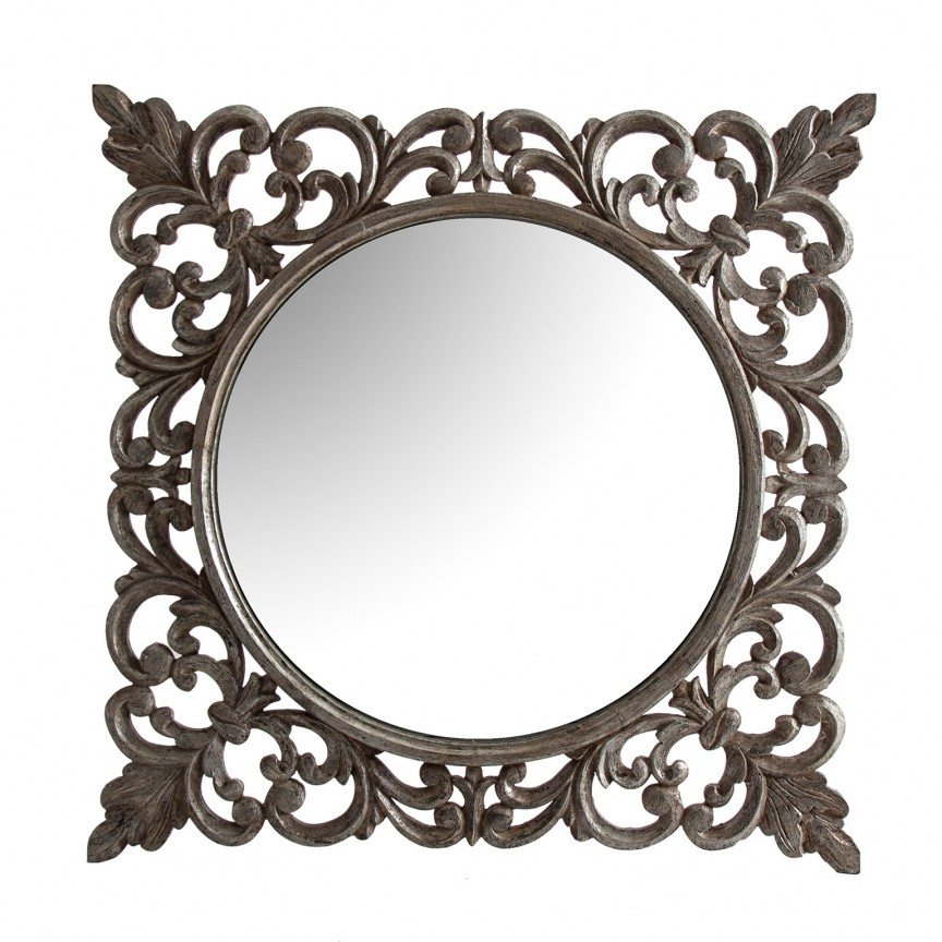 Oglinda decorativa stil colonial Elena, 120x120cm 26942 VH, Oglinzi decorative,  a