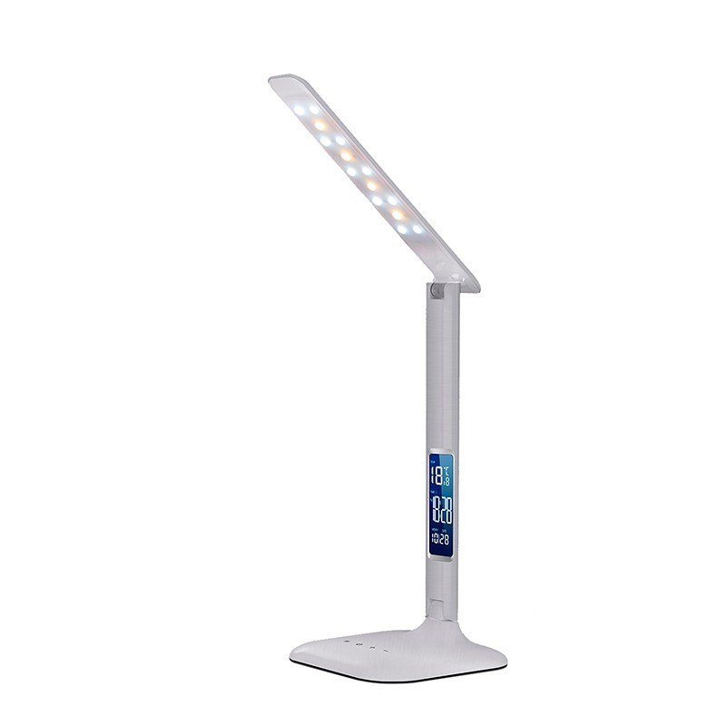 Veioza LED RGB / Lampa birou cu alarma, calendar si termometru Asser 982006 SU, Veioze LED, Lampadare LED, Corpuri de iluminat, lustre, aplice, veioze, lampadare, plafoniere. Mobilier si decoratiuni, oglinzi, scaune, fotolii. Oferte speciale iluminat interior si exterior. Livram in toata tara.  a