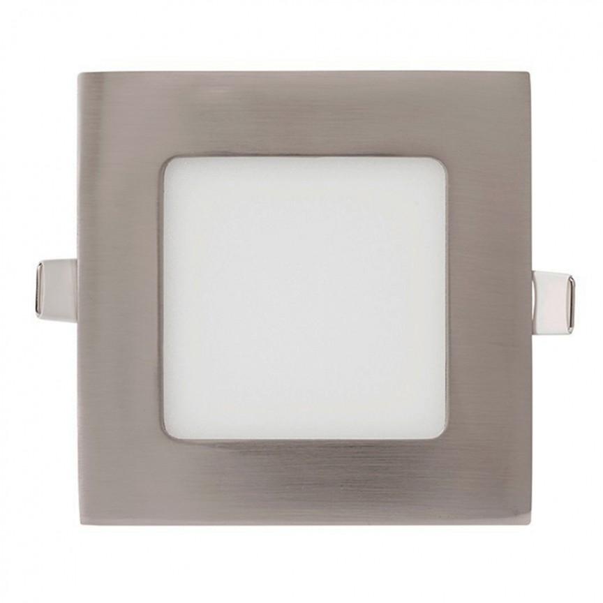 Spot LED incastrabil tavan 17cm Hole nickel 12W 5500K 366123 SU, Spoturi incastrate - tavan fals / perete, Corpuri de iluminat, lustre, aplice, veioze, lampadare, plafoniere. Mobilier si decoratiuni, oglinzi, scaune, fotolii. Oferte speciale iluminat interior si exterior. Livram in toata tara.  a