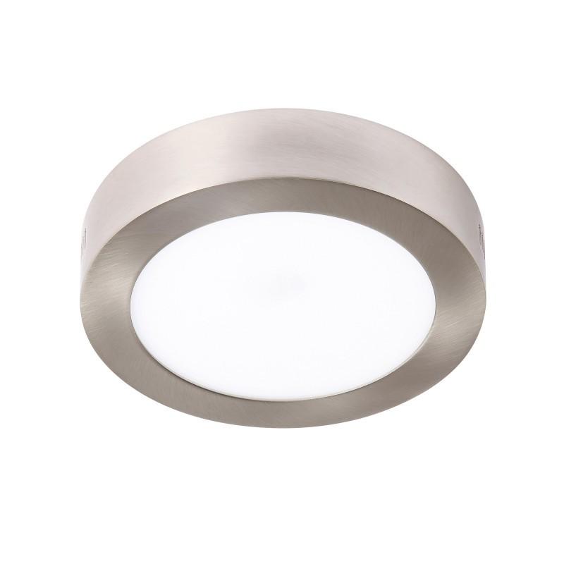 Spot LED aplicat tavan Ø22,5cm SURF nickel 18W 5500K 101070 SU, Spoturi LED incastrate, aplicate, Corpuri de iluminat, lustre, aplice, veioze, lampadare, plafoniere. Mobilier si decoratiuni, oglinzi, scaune, fotolii. Oferte speciale iluminat interior si exterior. Livram in toata tara.  a